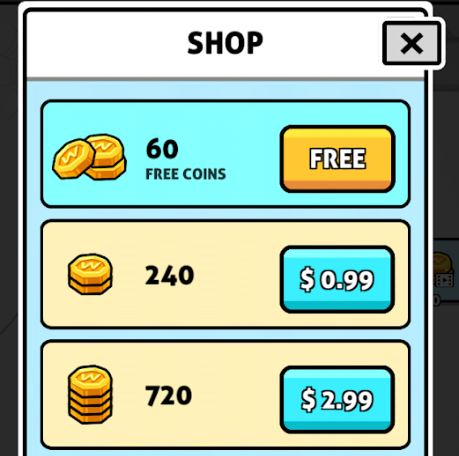 Words Story in-game purchases, coin shop
