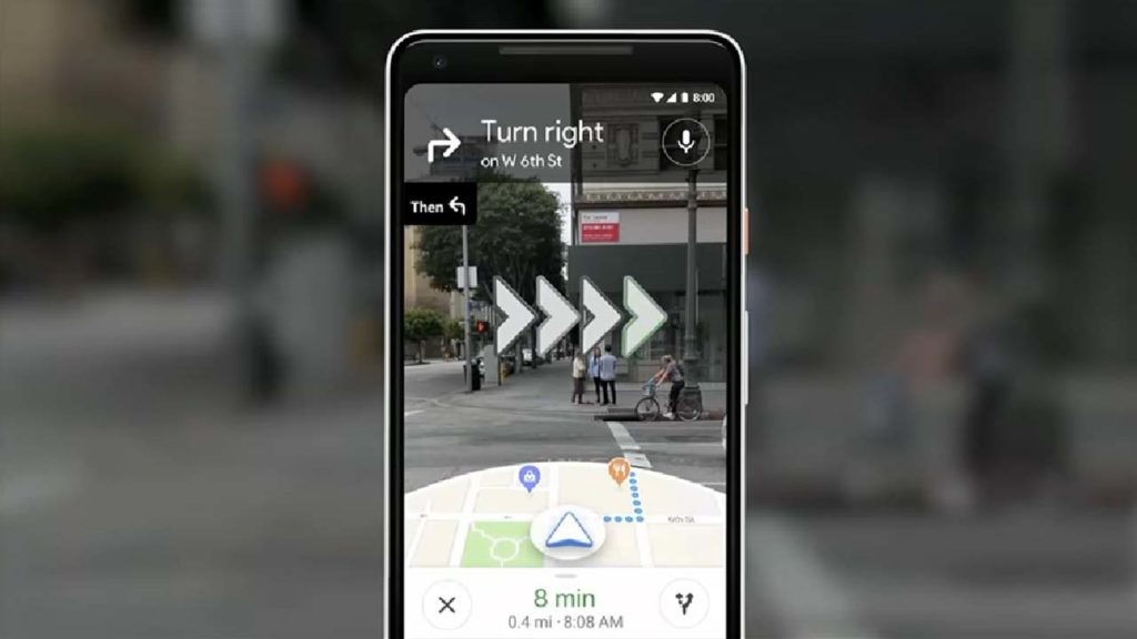 New Augmented Reality Google Maps feature
