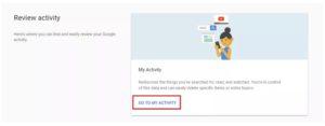 delete Google recordings
