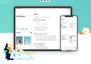 grid diary journaling app