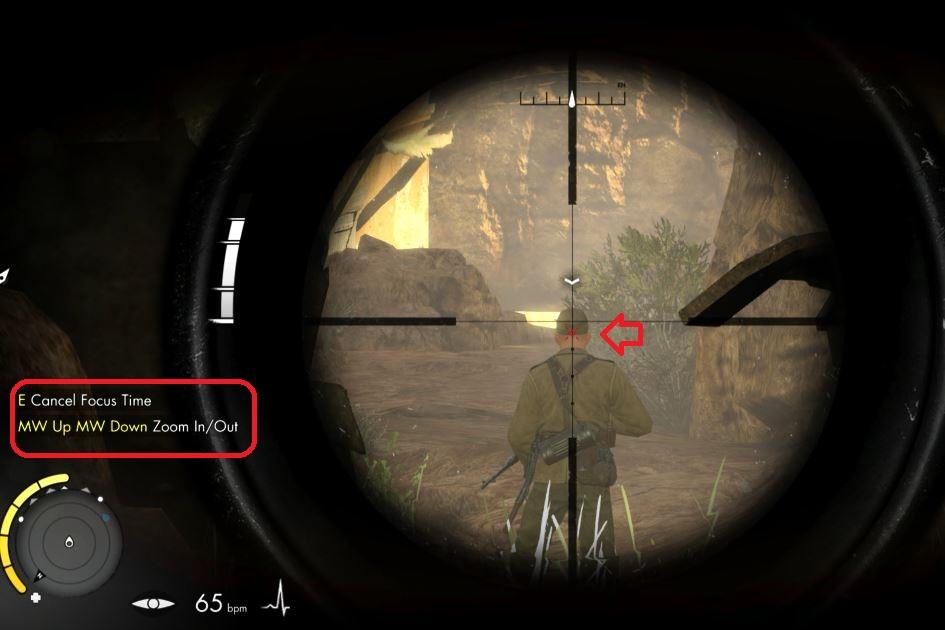 Holding breath in Sniper Elite 3