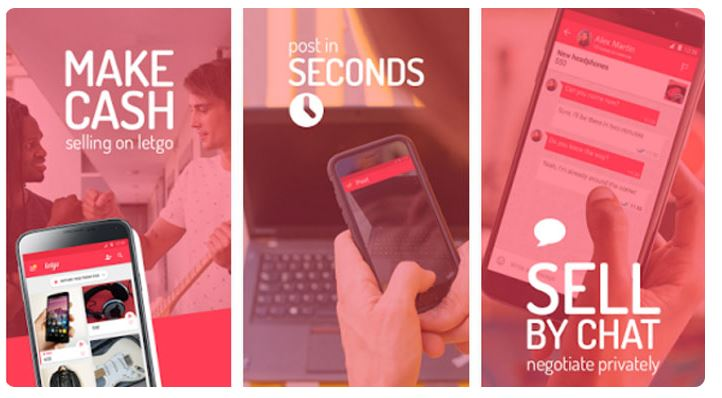 Make cash, post in seconds, sell by chat with LetGo
