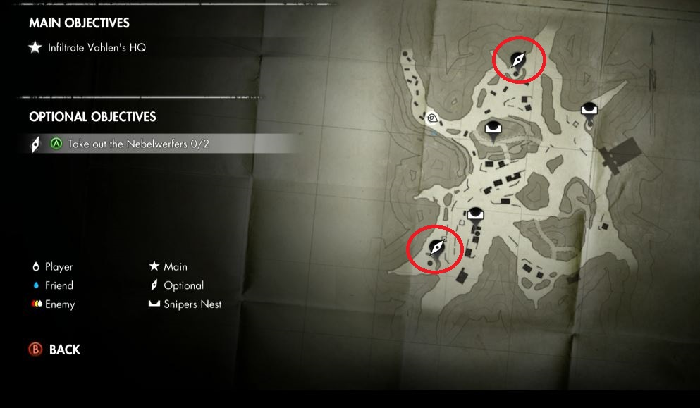 Sniper Elite 3 map and objectives
