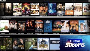 PlutoTV menu