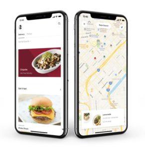 Postmates app interface