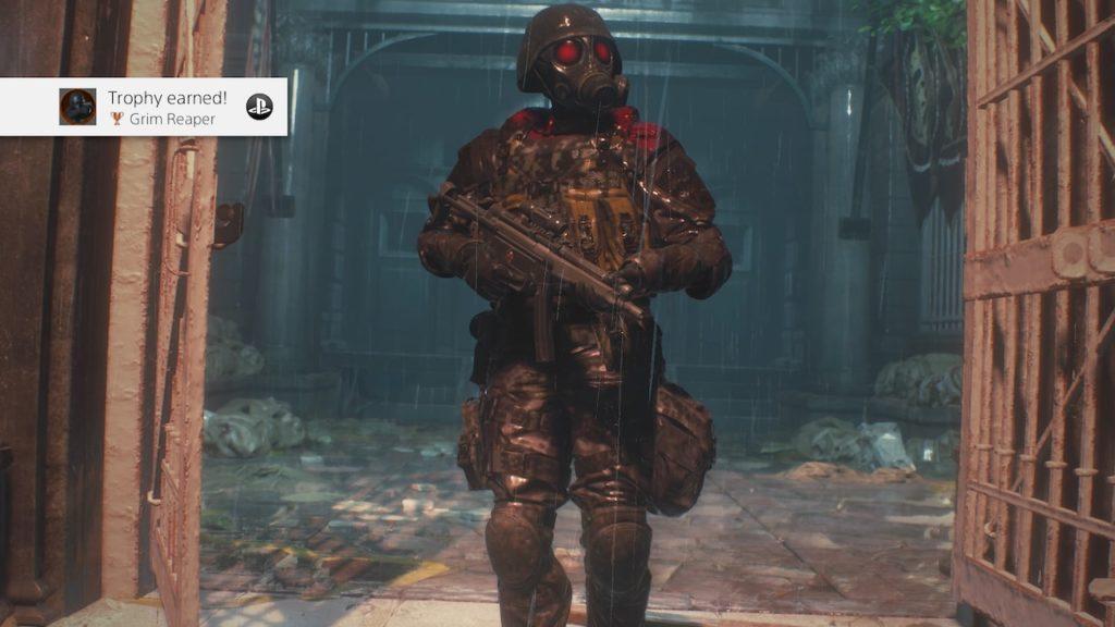 resident evil 2 hunk 4th survivor grim reaper ending