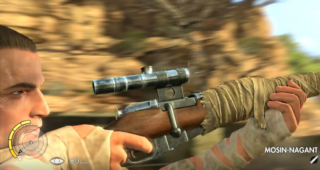 Sniper Elite 3 aiming