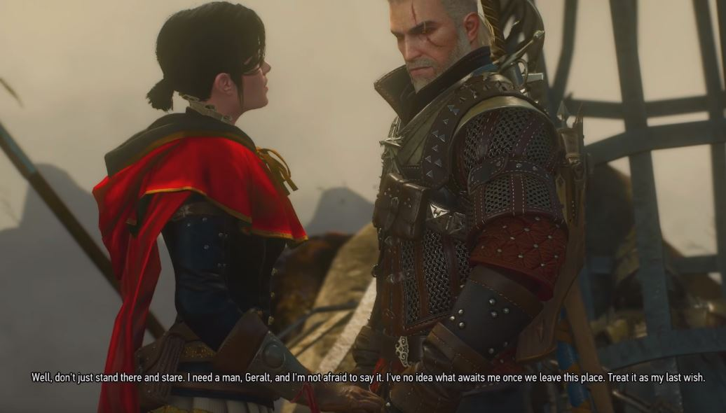 Syanna Geralt love scene request blood and wine