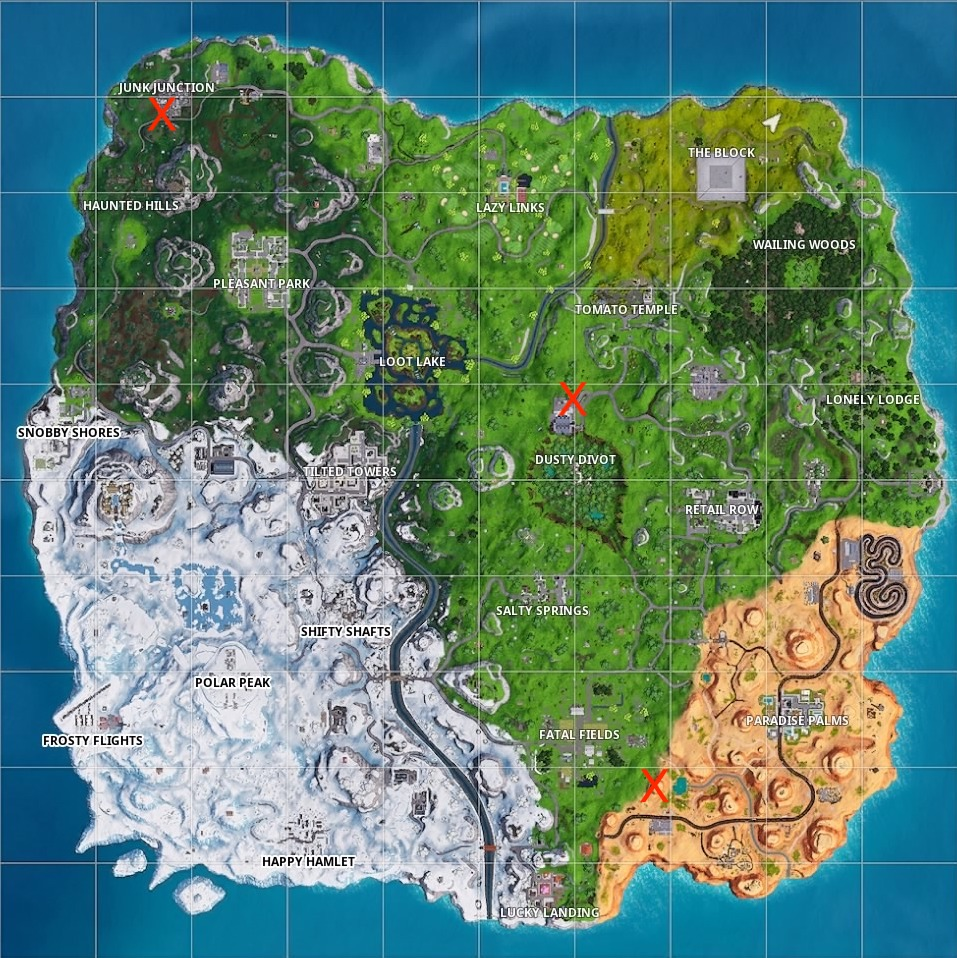 fortnite season 7 week 8 sundial location map