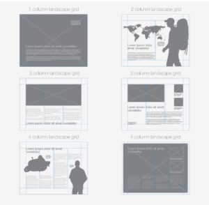 different grid layouts web design