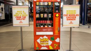 Instagram-powered vending machine gives free food for selfies
