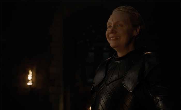 Brienne smiles