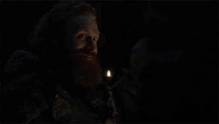 Tormund smiles