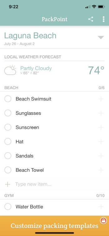 PackPoint Laguna Beach