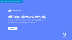 Hurry! Get a 40% discount on subscriptions for Adobe Creative Cloud – Offer ends July 19