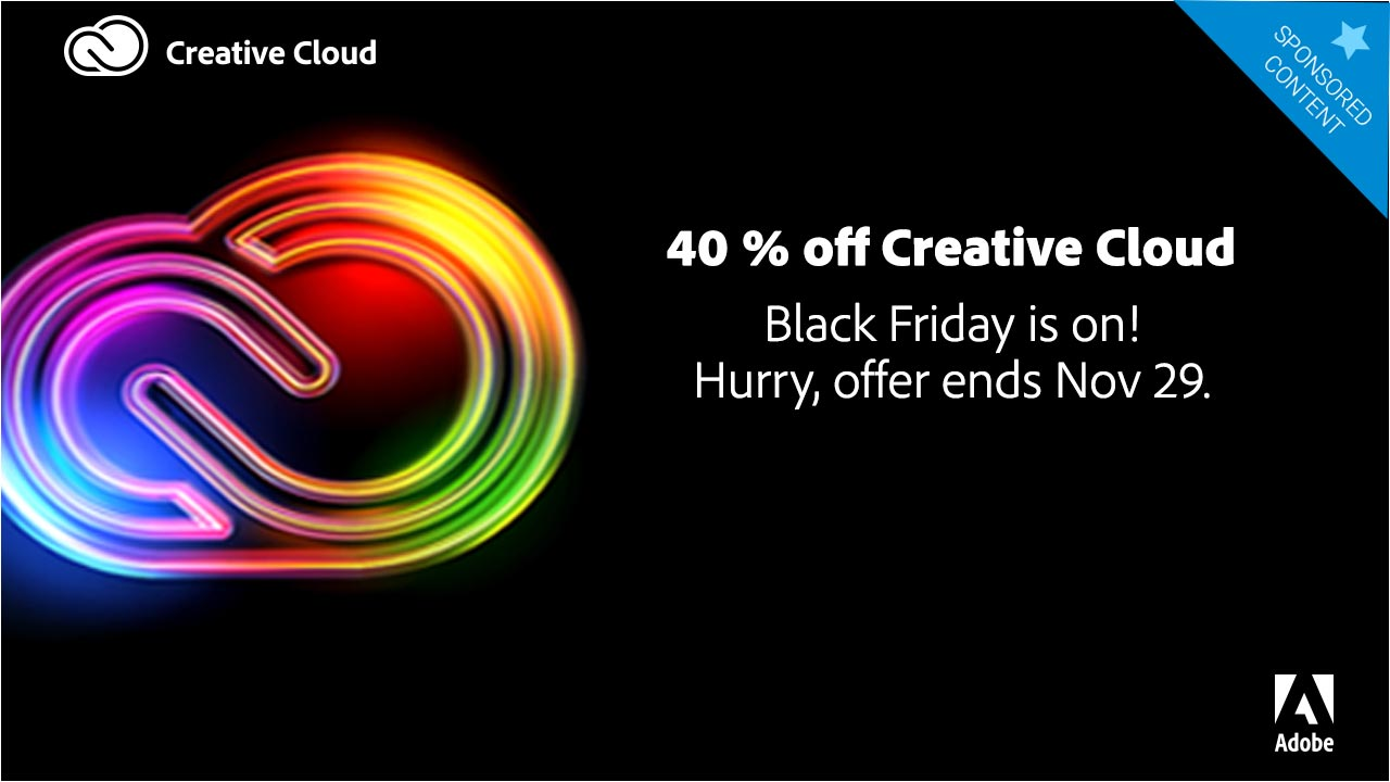 An astounding Black Friday deal on Adobe Creative Cloud services