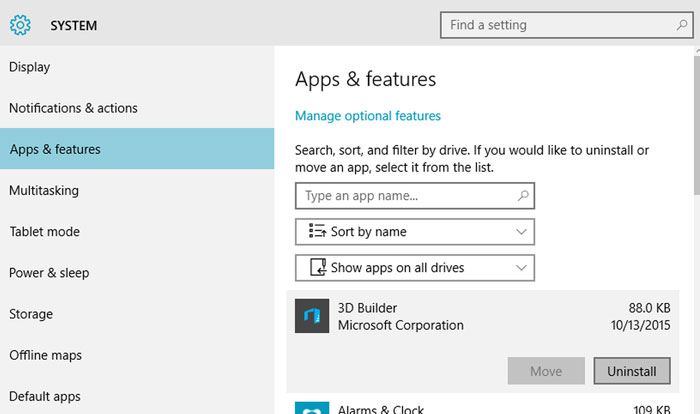 Access Applications in Windows 10