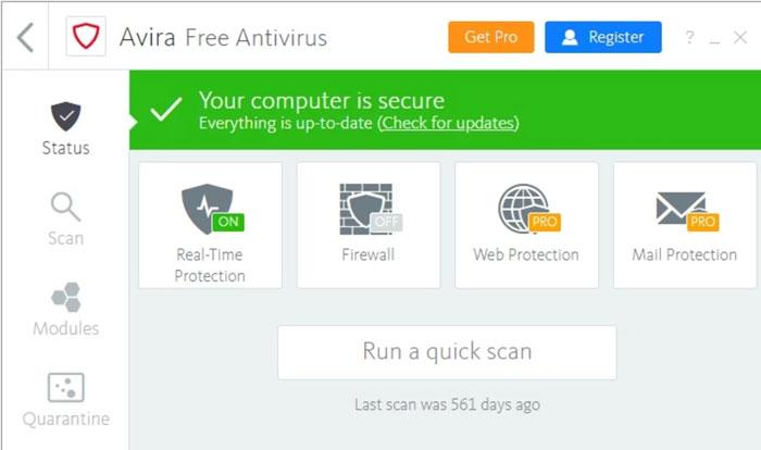Avira-Free-Antivirus-interface