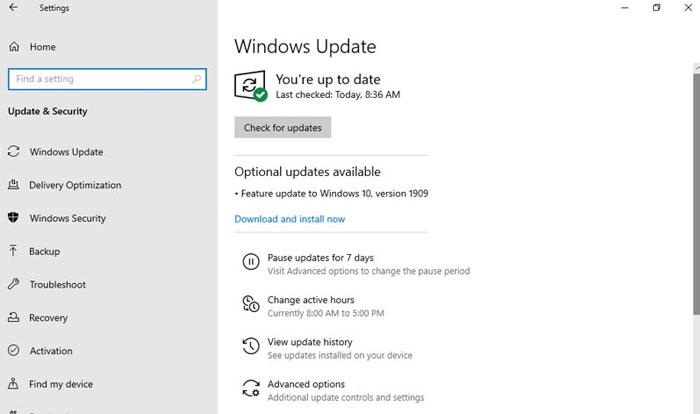 Windows-Update-interface