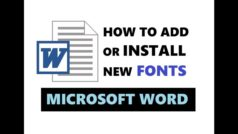 How to Add Fonts to Microsoft Word in 3 Steps