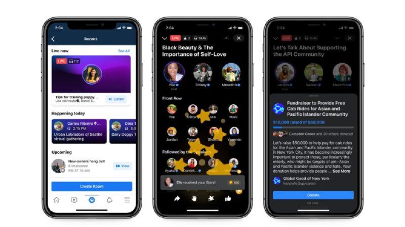 Facebook Announces Live Audio Rooms
