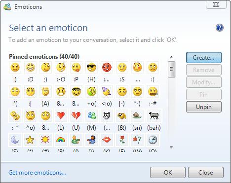 emoticon messenger