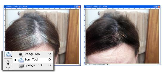 Come coprire i capelli bianchi con Photoshop