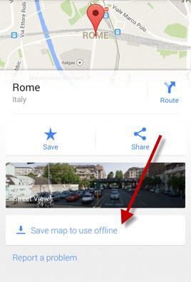 Google Maps: enregistrer la destination