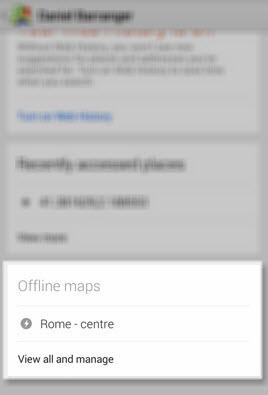 Google Maps sélectionner la carte hors-ligne