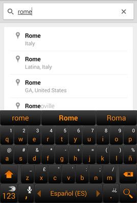 Google Maps: sélectionner destination