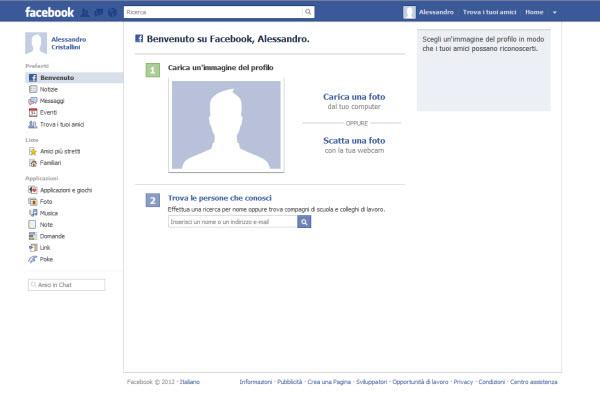 Aggiungi una foto al profilo