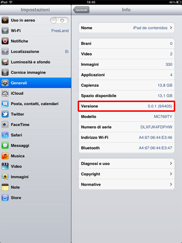 Versione-iOS