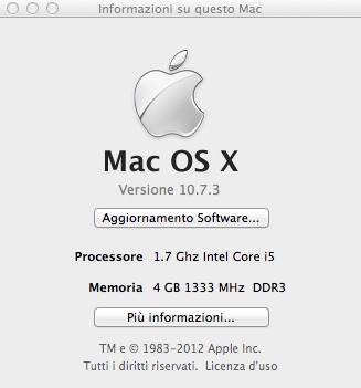 Info su questo Mac
