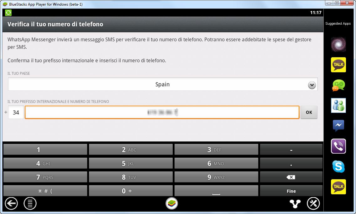 Verifica numeor telefono WhatsApp