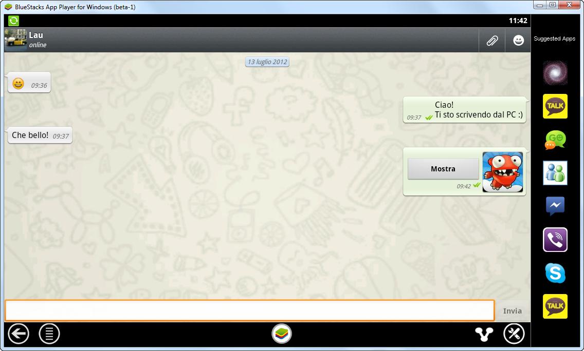 chat whatsapp dal PC