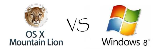 Windows 8 contro OS X Mountain Lion