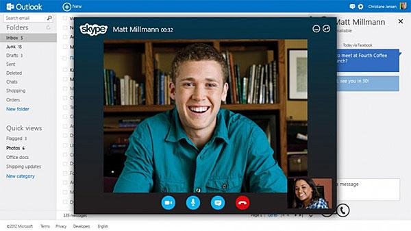 Skype dentro Outlook