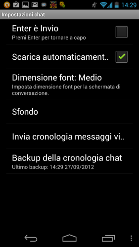 Backup conversazioni whatsapp