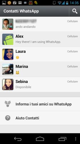Messaggio di stato whatsapp