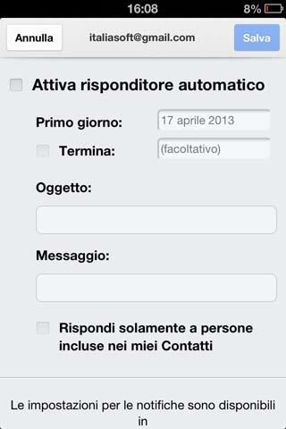 Risponditore automatico di Gmail.app
