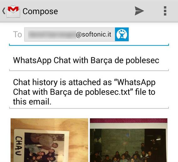Send email WhatsApp