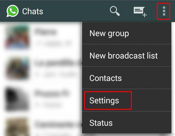 WhatsApp - Settings