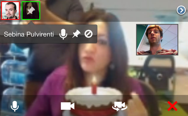 Google Hangouts per iPhone