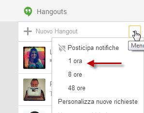 Impostare status Non disponibile su Hangouts in Google Plus