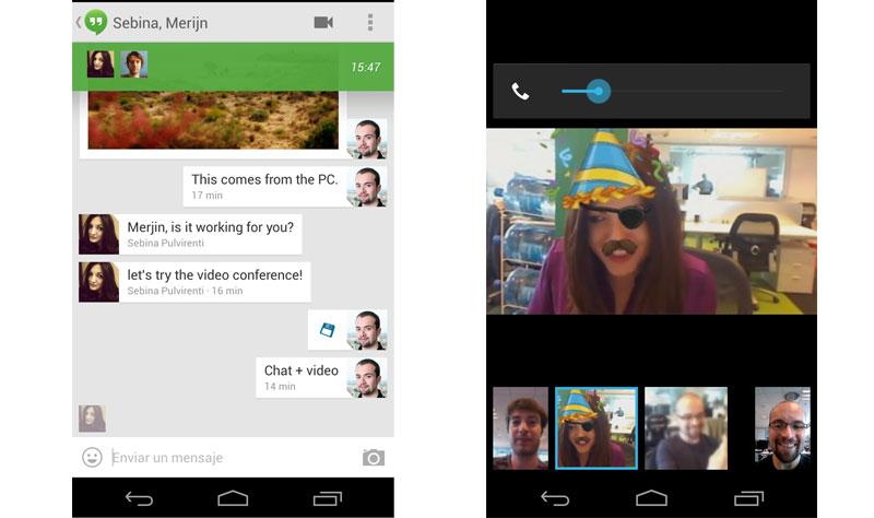 Google Hangouts per Android