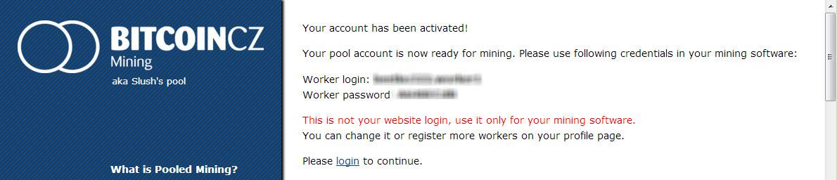 Attivazione account Bitcoin CZ con username e password