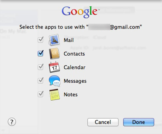 Google Contacts on Mac