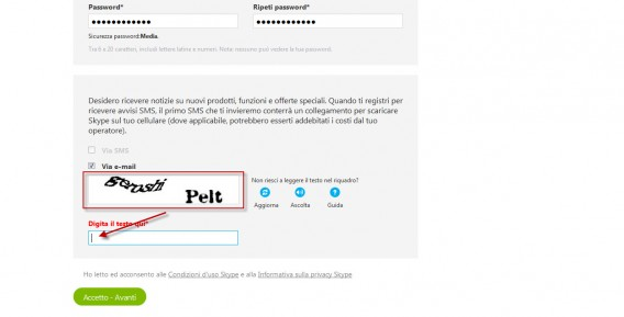 03 - Windows - Inserisci captcha
