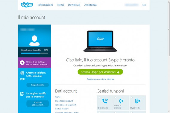 04 bis - Windows - Account pronto