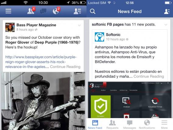 Facebook comparison